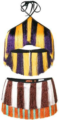 Missoni Mare mixed stripe fringed bikini