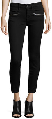 7 For All Mankind (B)Air Ankle Skinny Jeans w/Zip Pockets, Black $199 thestylecure.com