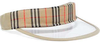 Burberry Checked Cotton-canvas And Pvc Visor - Beige