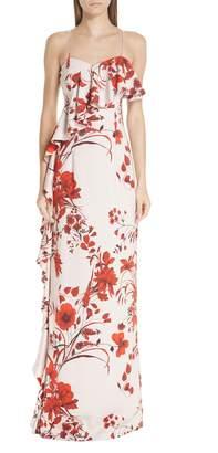 Sachin + Babi Putri Floral Print Gown
