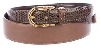 Gucci GG Skinny Leather Belt