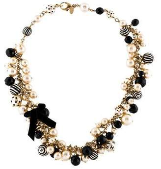 Chanel Faux Pearl & Resin Collar Necklace