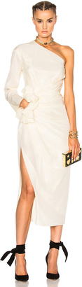 Lanvin One Shoulder Silk Dress $3,195 thestylecure.com