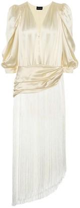 Magda Butrym Wels fringed silk dress