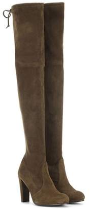 Stuart Weitzman Highland suede over-the-knee boots