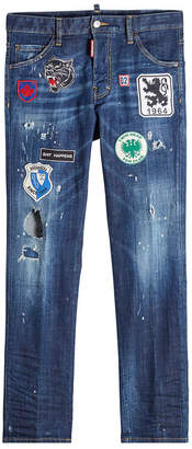 DSQUARED2 Distressed Jeans with Patches