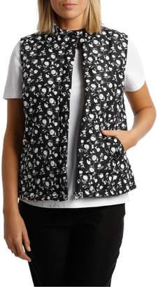 Ditsy Floral Printed Sless Vest
