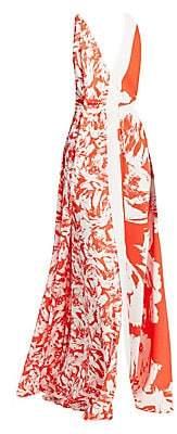 Roland Mouret Women's Berkeley Floral Maxi Dress