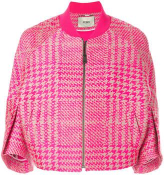 Fendi Glen Plaid tailored bomber jacket