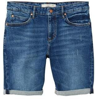 Mango man MANGO MAN Faded dark wash denim bermuda shorts