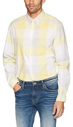 Calvin Klein Men's Long Sleeve Button Down Shirt Buffalo Grindle Check