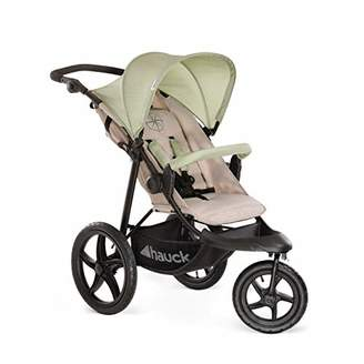 Hauck Runner Jogger Style One Hand Fold Pushchair with raincover - Green