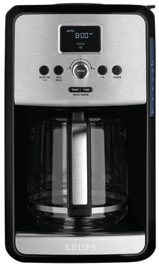 Krups Savoy Programmable Filter Stainless Steel Coffee Maker