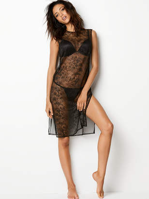 Very Sexy Floral Lace High-neck Slip