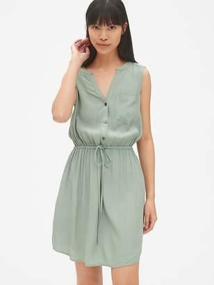 Gap Sleeveless Tie-Waist Shirtdress