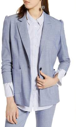 Halogen Stretch Woven Suit Blazer (Regular & Petite)