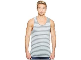 Alternative Eco Jersey Yarn-Dye Stripe Marine Tank Top Men's Clothing