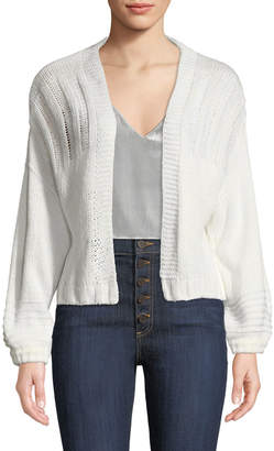 Madisonne Chunky Open-Front Cardigan