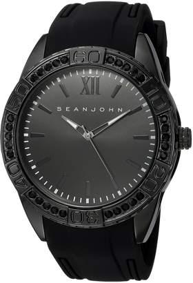 Sean John Men's 'Bond' Quartz Metal and Silicone Dress Watch, Color (Model: SJC0171001)