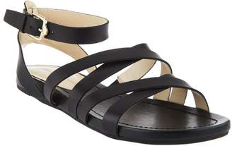 Isaac Mizrahi Live! Leather Gladiator Sandals