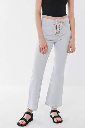Urban Outfitters Lillie High-Rise Lace-Up Flare Pant