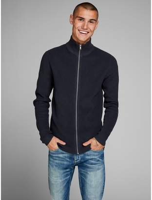 Jack and Jones Zip-Up Fine Gauge Knit Cardigan