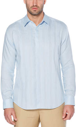 Cubavera Long Sleeve Multiple Tuck Shirt