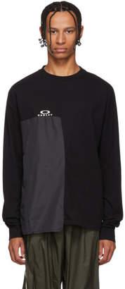 Oakley by Samuel Ross Black Multifabric Long Sleeve T-Shirt