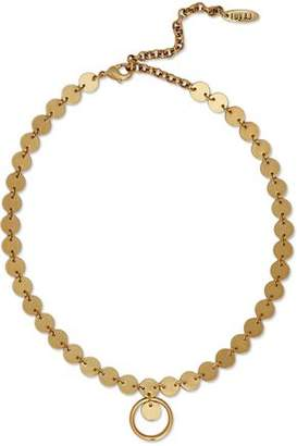 Luv Aj Chain Loop Disco Gold-Tone Choker