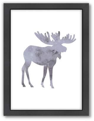 Americanflat Moose Framed Wall Art