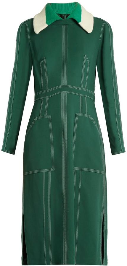 BURBERRY PRORSUM Detachable-collar crepe dress