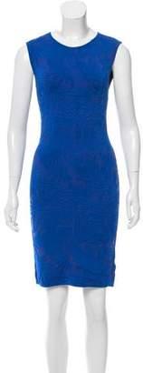 Zac Posen Textured Pattern Bodycon Dress
