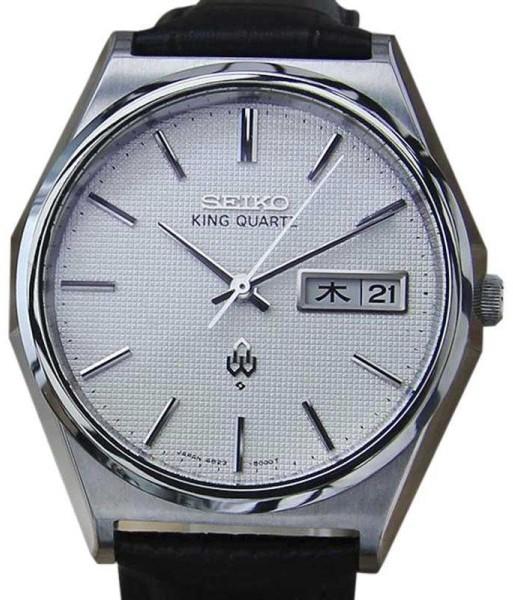 SeikoSeiko King 4823 8050 Stainless Steel / Leather 35mm Mens Watch