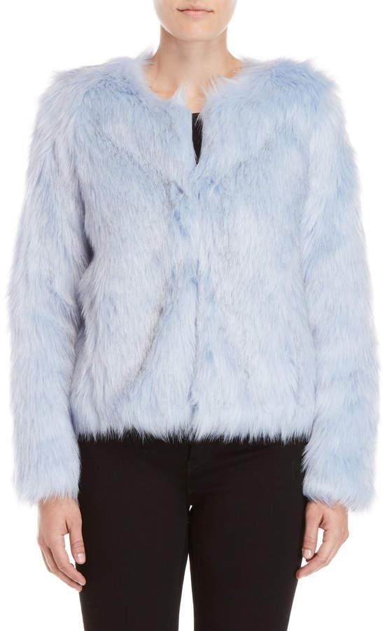 Unreal Fur Pastel Blue Faux Fur Jacket