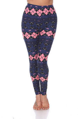 WHITE MARK White Mark Women's One Size Fits Most Printed Leggings