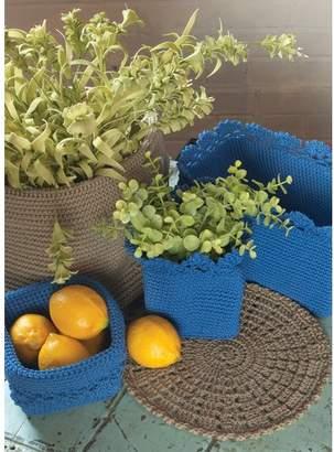 Heritage Lace Mode Crochet Trim Plastic Basket