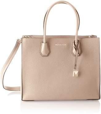 MICHAEL Michael Kors Women's Mercer Large Leather Tote Bag Pink