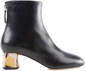 Alexander McQueen Metallic Heel Ankle Boots