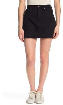 116fb49698 Raw Hem Denim Skirt - ShopStyle