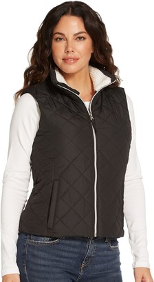 Women's Weathercast Sherpa-Lined Cozy Puffer Vest