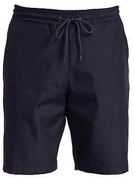 Saks Fifth Avenue Men's MODERN Silver Stripe Stretch Shorts