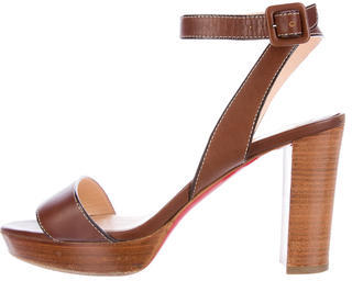 Christian Louboutin  Christian Louboutin Leather Platform Sandals