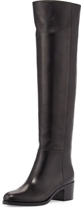Gianvito Rossi VIP Leather Over-The-Knee Boot $1,695 thestylecure.com