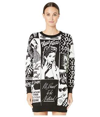 Moschino Newspaper Print Sweater Dress