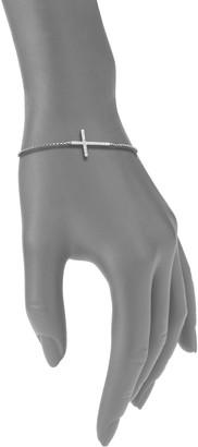 Effy 14K White Gold & Diamond Cross Tennis Bracelet