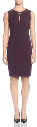T Tahari Sleeveless Keyhole Dress