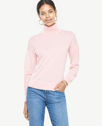 Ann Taylor Extrafine Merino Wool Puff Sleeve Sweater