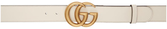 Gucci White Double G Buckle Belt