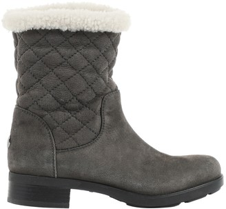 Moncler Grey Suede Boots