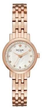 Kate Spade Analog Mini Monterey Rose-Goldtone Bracelet Watch